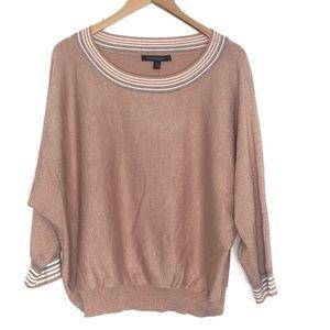 Marc New York  pink gold tone sweater sz XL